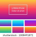 vector multicolored gradient...   Shutterstock .eps vector #1008491872