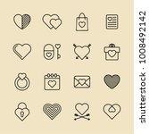 heart vector line icons. love... | Shutterstock .eps vector #1008492142