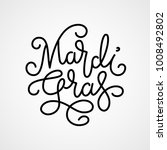 mardi gras lettering. eps8. rgb.... | Shutterstock .eps vector #1008492802