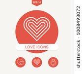 romantic and lovely pictogram.... | Shutterstock .eps vector #1008493072