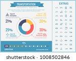 transportation infographic... | Shutterstock .eps vector #1008502846
