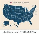 usa map vector | Shutterstock .eps vector #1008534706