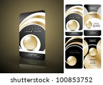 vertical black and golden... | Shutterstock .eps vector #100853752