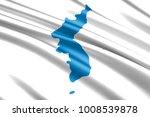 unification flag of korea | Shutterstock . vector #1008539878