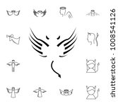 wings line icon. simple set of... | Shutterstock .eps vector #1008541126
