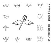 wings and horns lne icon.... | Shutterstock .eps vector #1008541132
