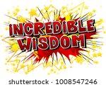 incredible wisdom   comic book...   Shutterstock .eps vector #1008547246