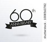 60 years anniversary logo with... | Shutterstock .eps vector #1008563782