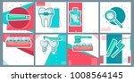 dental flat icons set in... | Shutterstock .eps vector #1008564145