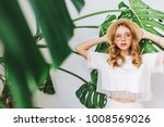 portrait of stylish serious... | Shutterstock . vector #1008569026