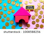 top view of gold coins and... | Shutterstock . vector #1008588256