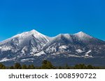 The Snow Capped Mountains of the San Francisco Peaks near Flagstaff, Arizona.