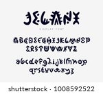 vector unique authentic font ... | Shutterstock .eps vector #1008592522
