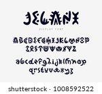 vector unique authentic font ...   Shutterstock .eps vector #1008592522