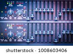 sound mixer control faders on a ... | Shutterstock . vector #1008603406