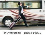 businessman with suitcase... | Shutterstock . vector #1008614032