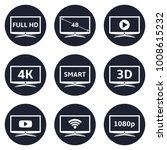 smart tv icons | Shutterstock .eps vector #1008615232