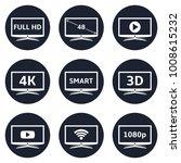smart tv icons | Shutterstock .eps vector #1008615232