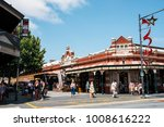 Small photo of Fremantle, Perth, Australia - Dec 17 2017: People patronise Fremantle Markets which is a public market located on the corner of South Terrace and Henderson Street, Fremantle, Western Australia.