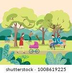 people  in urban park  city...   Shutterstock .eps vector #1008619225