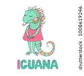 A Cute Iguana Dressed In Pink....