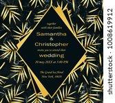 wedding glamorous invitation... | Shutterstock .eps vector #1008619912
