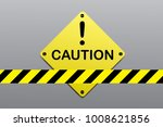 caution sign background vector... | Shutterstock .eps vector #1008621856
