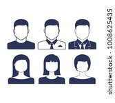 person male and female icon set.... | Shutterstock .eps vector #1008625435