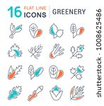 set of vector line icons  sign... | Shutterstock .eps vector #1008625486