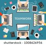 business teamwork  business... | Shutterstock .eps vector #1008626956