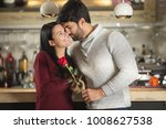 young couple on a valentine's... | Shutterstock . vector #1008627538