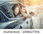happiness caucasian smilling... | Shutterstock . vector #1008627556