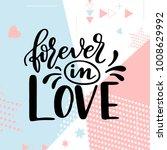 valentine day poster. hand... | Shutterstock .eps vector #1008629992