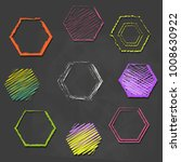 hand drawn hexagon. free hand... | Shutterstock .eps vector #1008630922