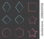 hand drawn rhombus  square ... | Shutterstock .eps vector #1008630928