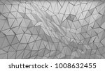 white polygonal triangle... | Shutterstock . vector #1008632455