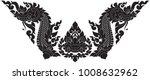 swirl doodle naga head and... | Shutterstock .eps vector #1008632962