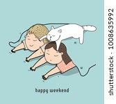 Stock vector happy weekend vector 1008635992