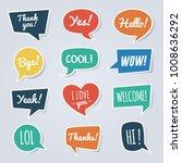 paper speech bubble with short... | Shutterstock .eps vector #1008636292