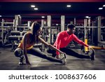 young healthy sporty active... | Shutterstock . vector #1008637606