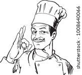 cartoon chef or baker... | Shutterstock .eps vector #1008640066