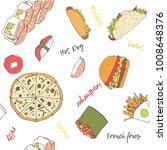 "hand drawn pattern ""food... | Shutterstock .eps vector #1008648376"