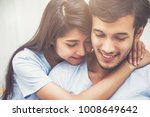close up happy young couple... | Shutterstock . vector #1008649642