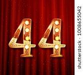 44 years anniversary...   Shutterstock .eps vector #1008655042