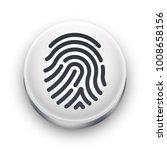 fingerprint scanner icon. white ... | Shutterstock .eps vector #1008658156