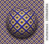 patterned ball rolling along... | Shutterstock . vector #1008668566