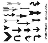 arrow icon set  | Shutterstock . vector #1008669052