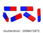 set red blue magnets. education ... | Shutterstock .eps vector #1008671872