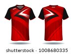 soccer jersey template. red and ... | Shutterstock .eps vector #1008680335