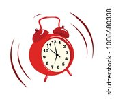 a loud call of a retro alarm... | Shutterstock .eps vector #1008680338
